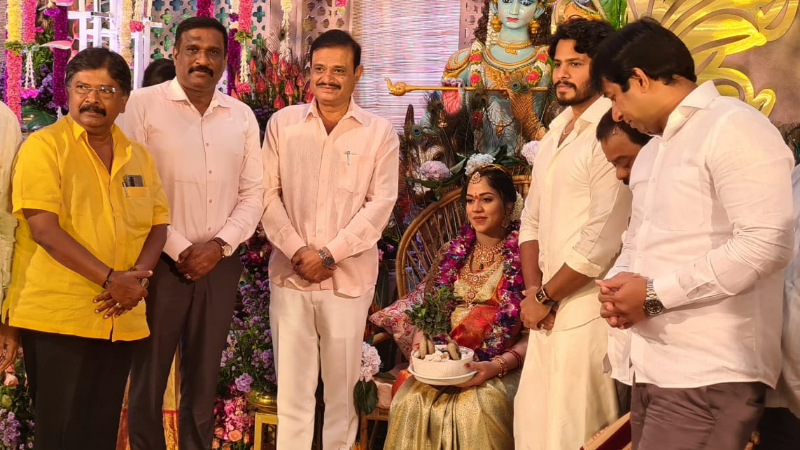nikhil kumaraswamy Wife revathi baby shower ceremony Bengaluru